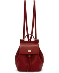 Dolce & Gabbana - Red Small Sicily Backpack - Lyst
