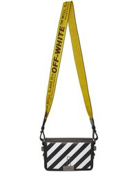 Off-White c/o Virgil Abloh - Black Diagonal Mini Binder Clip Flap Bag - Lyst