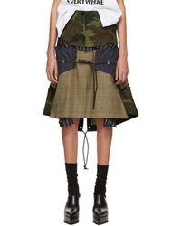 Sacai - Multicolour Glencheck Stripe Skirt - Lyst