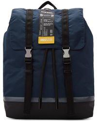DIESEL - Navy And Black Volpago Backpack - Lyst
