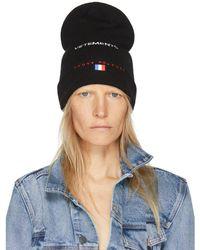 Vetements - Black Reebok Edition 'haute Couture' Beanie - Lyst