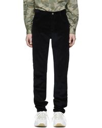 A.P.C. - Black Corduroy Baggy Trousers - Lyst