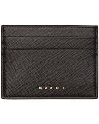 Marni - Black Logo Card Holder - Lyst