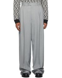 Gucci - Grey Vintage Sharkskin Trousers - Lyst