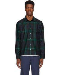 Paul Smith - Green And Blue Tartan Work Shirt - Lyst