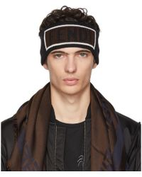 Fendi - Black Logo Headband - Lyst