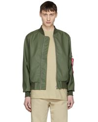 Stutterheim - Green Alpha Industries Edition Ma-1 Bomber Jacket - Lyst