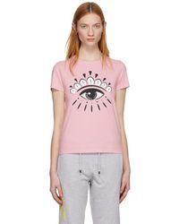 KENZO - Pink Eye Logo T-shirt - Lyst