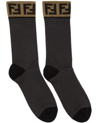 Fendi - Grey Forever Socks - Lyst