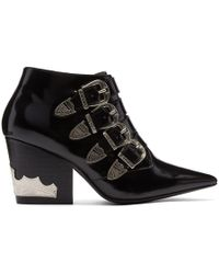 Toga Pulla - Black Four-buckle Western Boots - Lyst