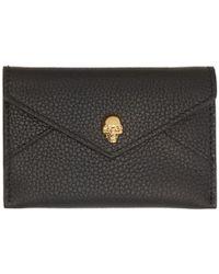 Alexander McQueen - Black And Gold Envelope Card Holder - Lyst