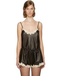 Alexander Wang - Black Leather Straight Cut Camisole - Lyst