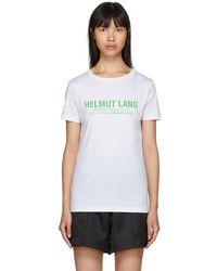 Helmut Lang - White Logo T-shirt - Lyst