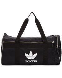 adidas Originals - Black Large Adicolor Duffle Bag - Lyst