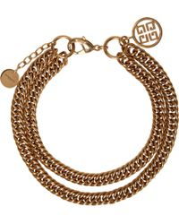 Givenchy   Gold Doubled Chain 4g Choker   Lyst