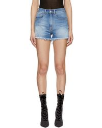 Marcelo Burlon - Blue Vintage Denim Shorts - Lyst