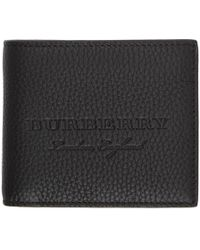 Burberry - Black Embossed Logo Wallet - Lyst