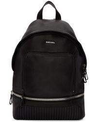 DIESEL - Black L Ziparound Backpack - Lyst