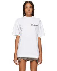 Palm Angels - White New Basic T-shirt - Lyst