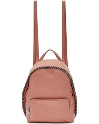 Stella McCartney - Sac a dos rose Small Falabella - Lyst