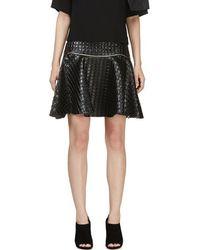 Jay Ahr - Black Embossed Leather Circle Skirt - Lyst