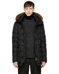 Moncler - Black Down Cluny Coat - Lyst