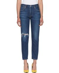 Citizens of Humanity - Blue Liya Classic Jeans - Lyst