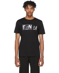 Fendi | Black Vocabulary T-shirt | Lyst