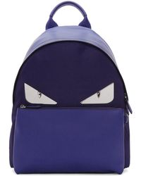 Fendi - Blue Bag Bugs Backpack - Lyst
