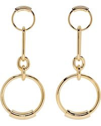 Chloé - Gold Reese Earrings - Lyst