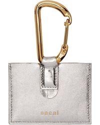 Sacai - Silver Card Holder - Lyst