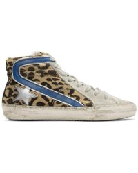 Golden Goose Deluxe Brand - Multicolor Leopard Slide High-top Sneakers - Lyst
