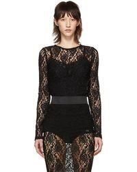 Dolce & Gabbana - Black Lace Sweater - Lyst