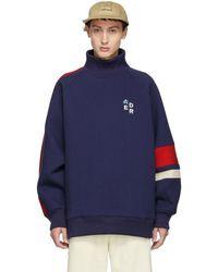 ADER error - Navy Mock Neck Sweatshirt - Lyst