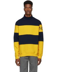 Noah - Navy And Yellow Mariner Turtleneck - Lyst