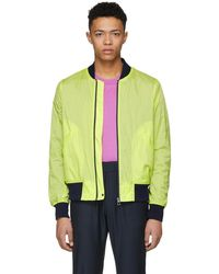 PS by Paul Smith - Yellow Neon Ripstop Bomber Jacket - Lyst