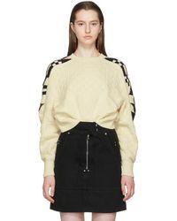 Isabel Marant - Ecru Laytonn Origami Sweater - Lyst