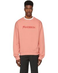 JW Anderson - Pink Logo Sweatshirt - Lyst