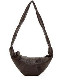 Lemaire - Grey Leather Small Bum Bag - Lyst