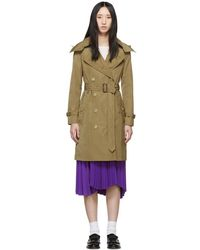 Burberry - Tan Kensington Hooded Trench Coat - Lyst