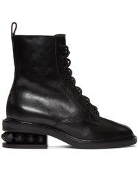 Nicholas Kirkwood - Black Suzi Combat Boots - Lyst