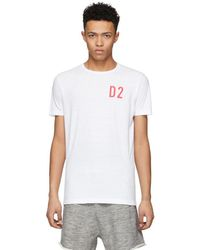 DSquared² - White D2 New Surf T-shirt - Lyst