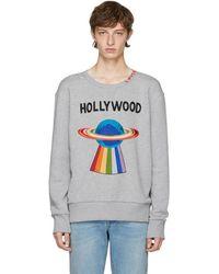 Gucci Grey 'hollywood' Saturn Sweatshirt - Gray