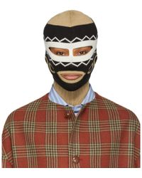Gucci - Black And Beige Mirrored Gg Balaclava - Lyst