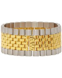 Alexander Wang - Gold And Silver Watch Band Bracelet - Lyst
