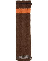 Prada - Brown Chunky Cable Knit Zig Zag Scarf - Lyst