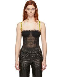 Off-White c/o Virgil Abloh - Black Lace Bodysuit - Lyst