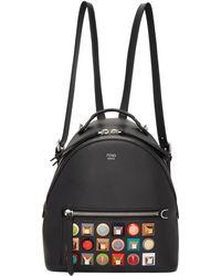 Fendi | Black Mini Rainbow Zaino Backpack | Lyst