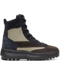 Yeezy - Black & Beige Military Boots - Lyst