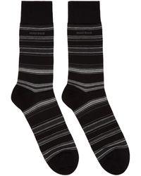 BOSS - Black Multistripe Socks - Lyst